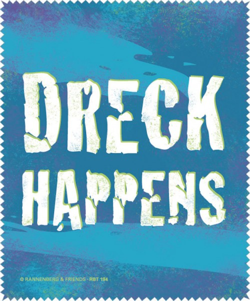 Brillenputztuch 'Dreck happens'
