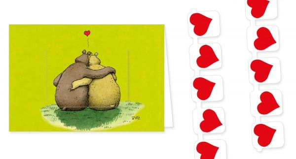 """Türchenkarte """"Ich hab dich lieb"""""""