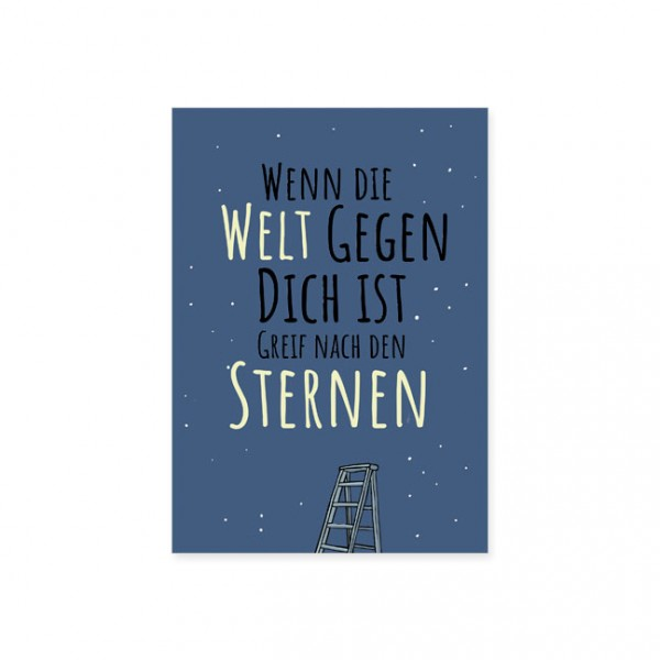 """Postkarte """" Greif nach den Sternen """""""