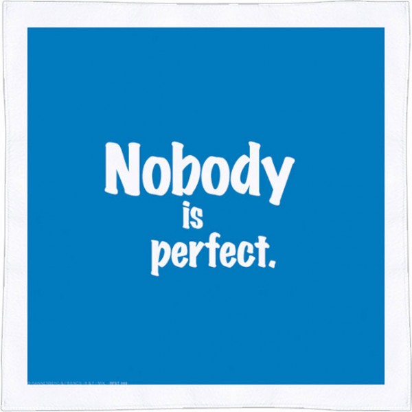 Spültuch 'Nobody is perfect'