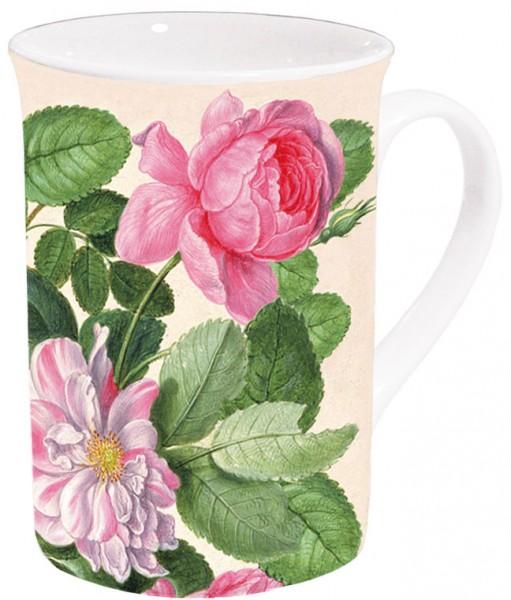 Becher 'Rosen aus dem Nassau Florilegium'