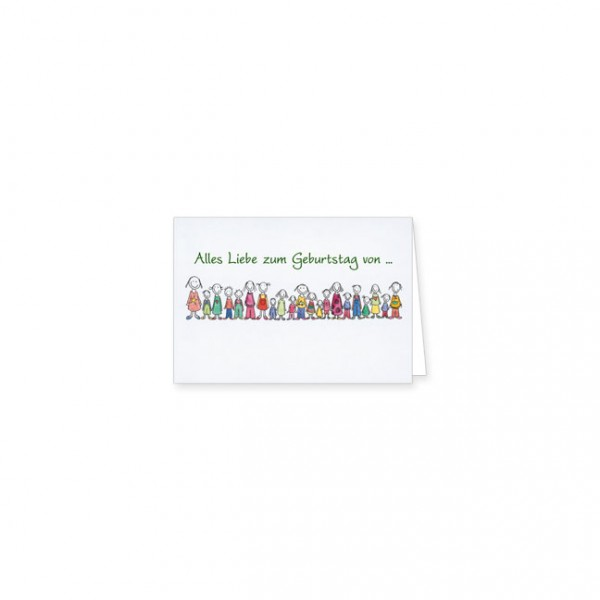 """Mini-Doppelkarte """"Alles Liebe zum Geburtstag"""""""