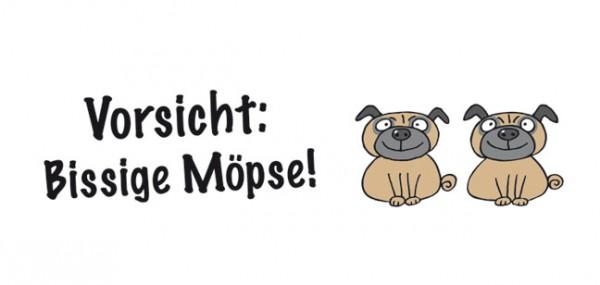 "XXL-Postkarte ""Bissige Möpse"""
