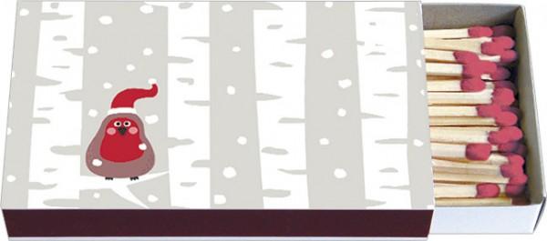 Zündholzschachteln Weihnachten 'Weihnachtsrotkehlchen'