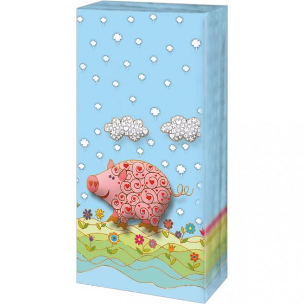 Taschentücher 'Viel Glück Schwein' von Amadeus Bachmayr