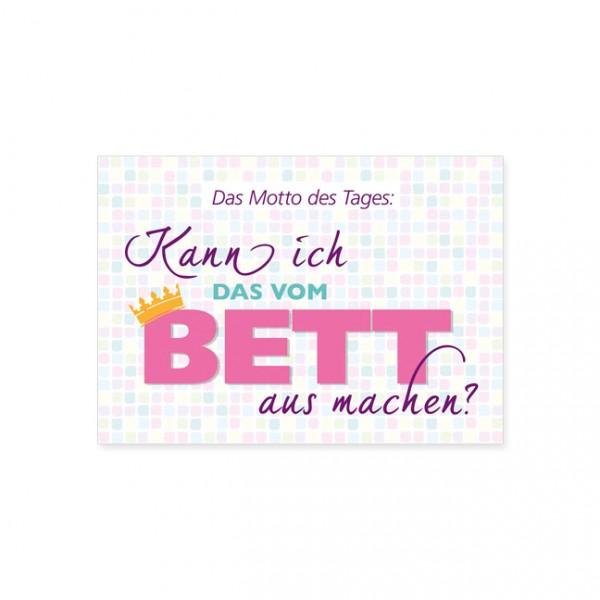 "Postkarte ""Motto des Tages"""