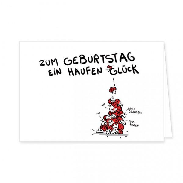 """Doppelkarte """"Ein Haufen Glück"""""""