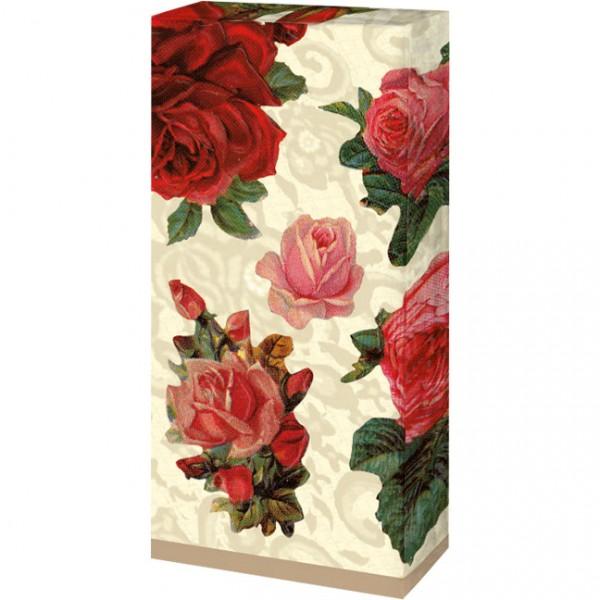 Taschentücher 'Nostalgische Rosen'