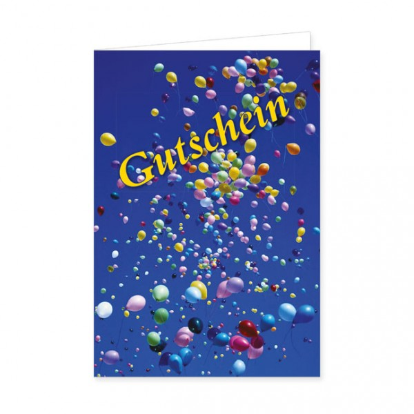 """Geschenk-Gutschein """"Luftballons"""""""