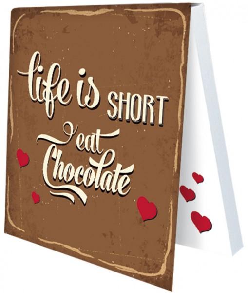 Klebezettel 'Life is short'