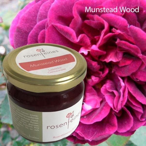 225 g Munstead Wood Sortenreiner Rosenblütenaufstrich im Glas