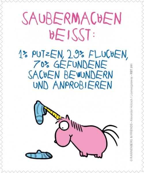 """Brillenputztuch """"Saubermachen"""""""