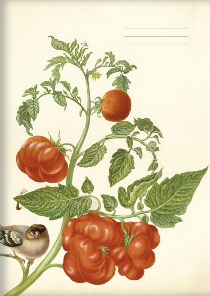 """kl. Kladden A6 """"Tomaten und Buchfink"""""""