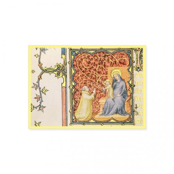 """Postkarte Gold """"Anbetung des Jesuskindes"""""""