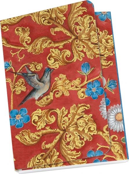 """Taschennotizblock Gold """"Breviar der Isabella von Kastilien (rot)"""""""