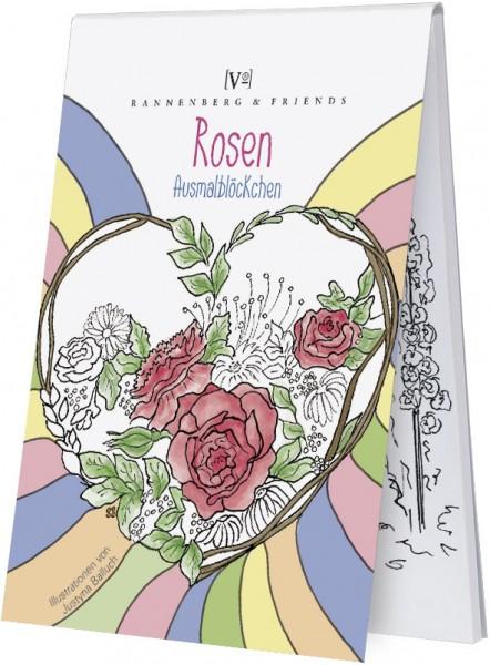 """Ausmalblöckchen """"Rosen"""""""