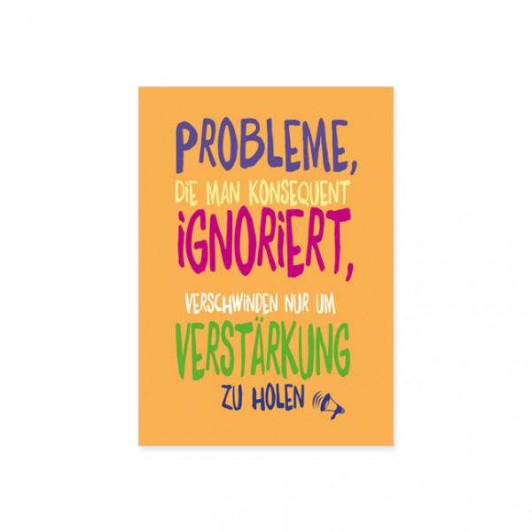 "Postkarte "" Probleme ignorieren """