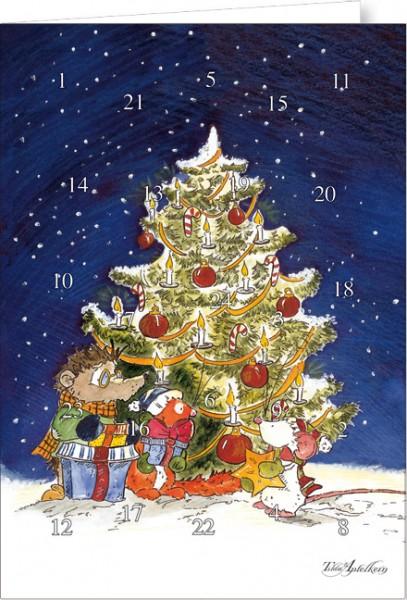 """Adventskalender A4 """"Tilda – Unterm Weihnachtsbaum"""""""