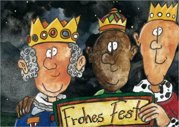 "Postkarte X-Mas ""Frohes Fest"""