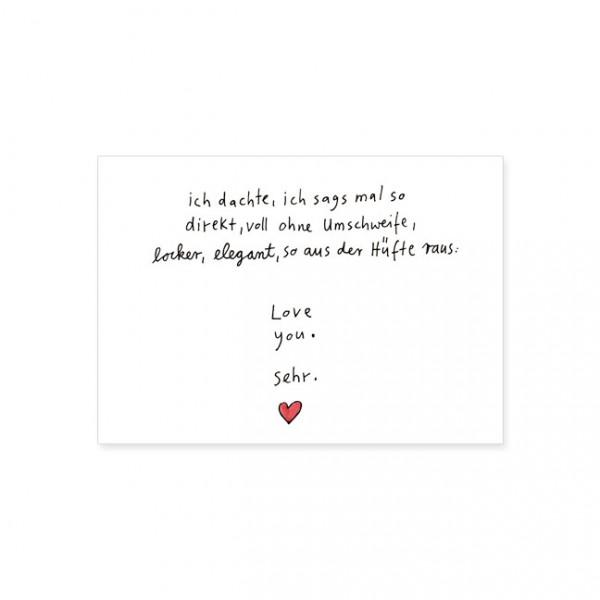 "Postkarte ""Love you sehr"""