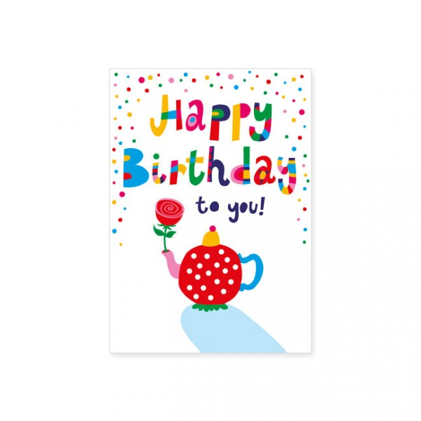 "Postkarte ""Happy Birthtea"""