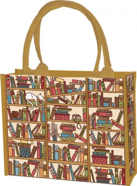 """Einkaufstasche """"Katze im Bücherregal"""