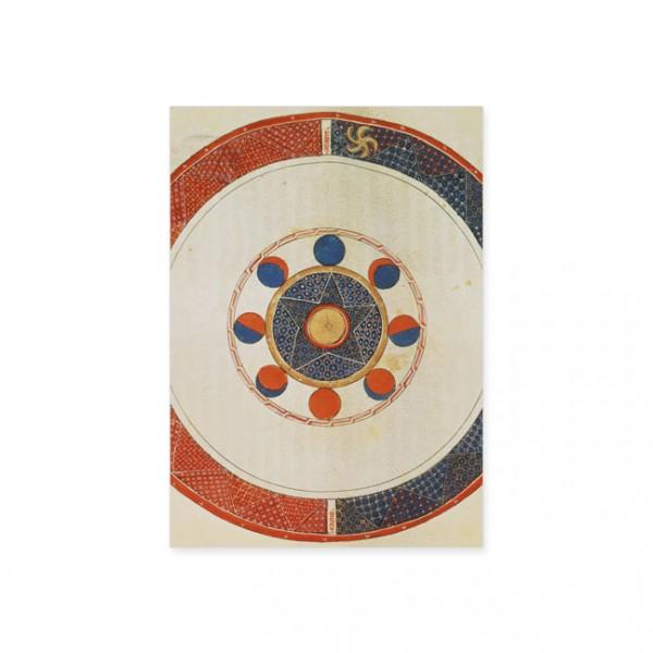 """Postkarte Gold """"Bewegung des Mondes"""""""