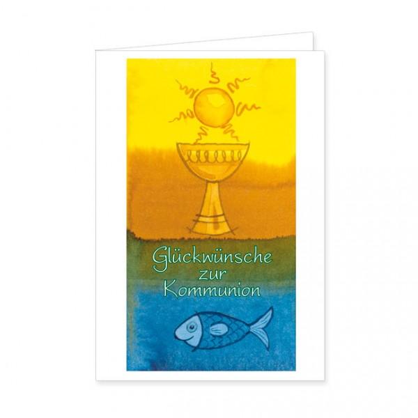 """Doppelkarte """"Glückwünsche zur Kommunion"""""""
