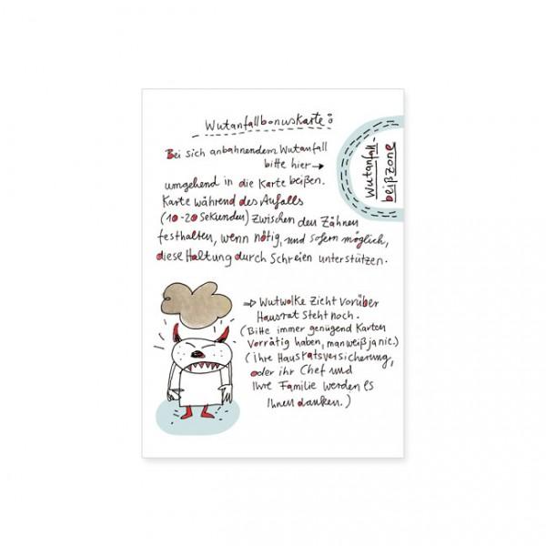 """Postkarte """"Wutanfallbonuskarte"""""""