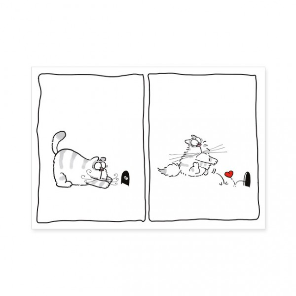 "Postkarten Large ""Catzz - Überraschung"""