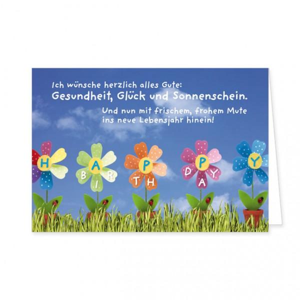 "Doppelkarte ""Geburtstagsblumen"""