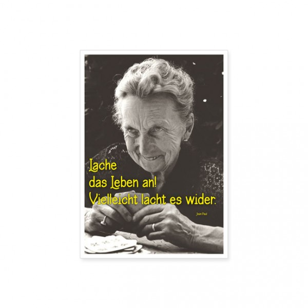 "Postkarte ""Lache das Leben an ..."""