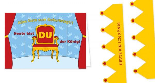 """Türchenkarte """"Heute bist du König"""""""