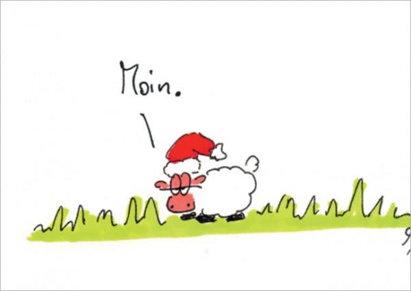 "Postkarte X-Mas ""Moin-Weihnachten"""