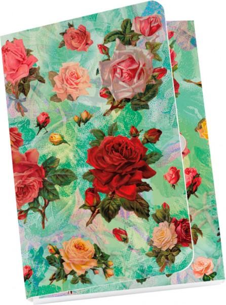 Taschennotizblöckchen 'Nostalgische Rosen'