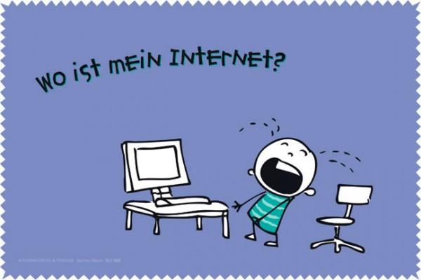 Laptoptuch 'Wo ist mein Internet'