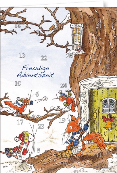 "Adventskalender A4 ""Tilda – Schneeballschlacht"""