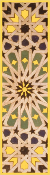 "Lesezeichen Gold ""Kachelmosaik"""