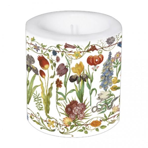 Lampionkerze 'Gartenblumen'