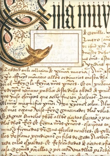 Kladden A6 'Erste Seite des Privilegienbuches des C. Columbus'