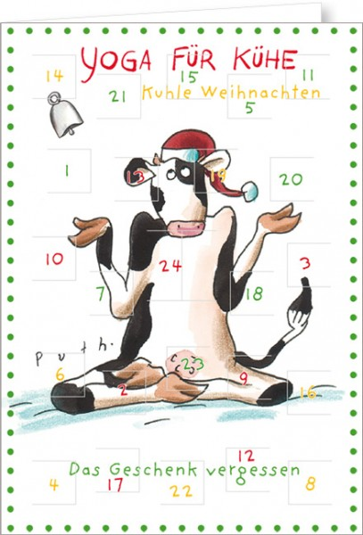 """Adventskalender A4 """"Yoga für Kühe - Kuhle Weihnachten"""""""