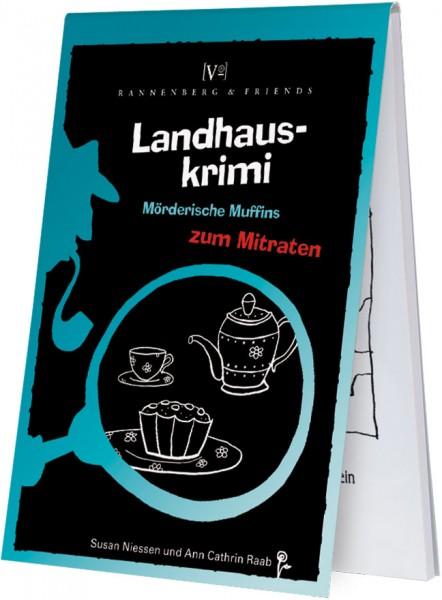 Spieleblöckchen 'Landhauskrimi - Mörderische Muffins' von Susan Niessen / Ann Cathrin Raab