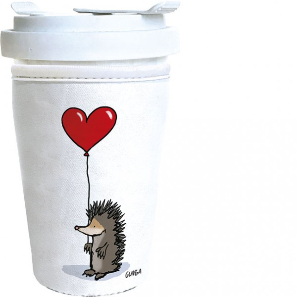 "Coffee to go ""Igel mit Herz"""