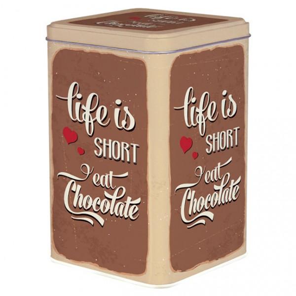 Blechdose 'Life is short'