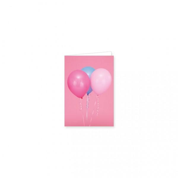 "Mini-Doppelkarte ""Drei Luftballons"""