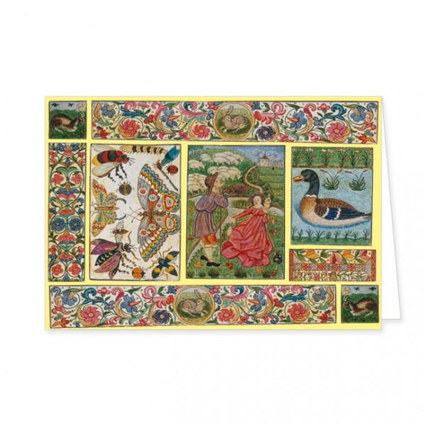 """Doppelkarte Gold """"Naturalis historia"""""""