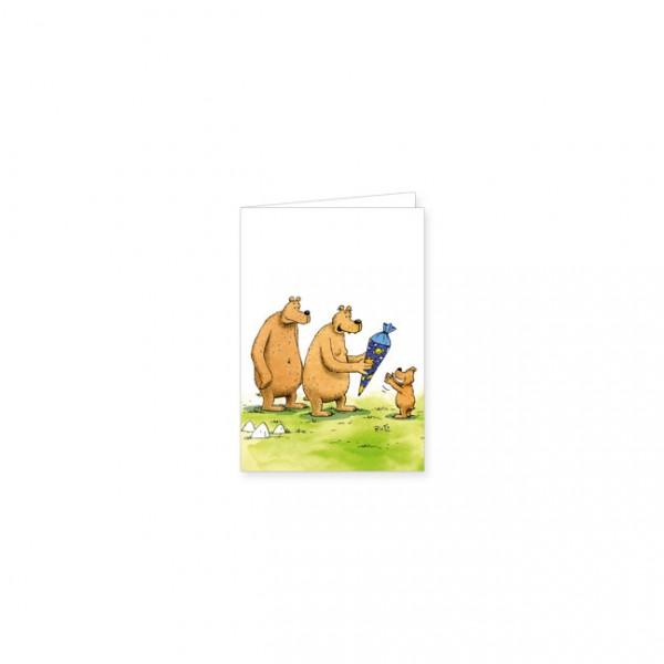 "Mini-Doppelkarte ""Schulanfang"""
