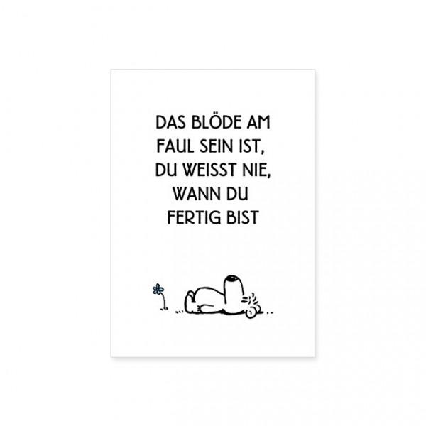 """Postkarte """"Faul sein"""""""