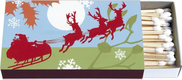 Zündholzschachteln Weihnachten 'Schlittenfahrt'