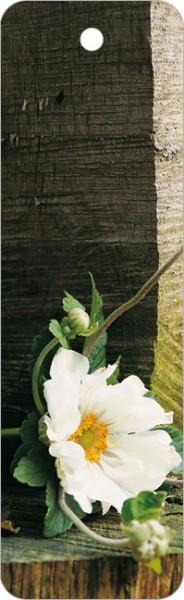 """Lesezeichen """"weiße Herbstanemone"""""""